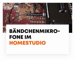beyerdynamic Bändchenmikrofone im Homestudio - Blog