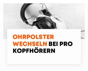Ohrpolster wechseln bei PRO Kopfhörern von beyerdynamic
