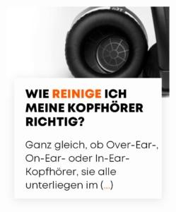 Blogbeitrag Wie reinige ich meine Kopfhörer richtig