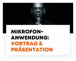 beyerdynamic Mikrofonanwendung Vortrag Präsentation