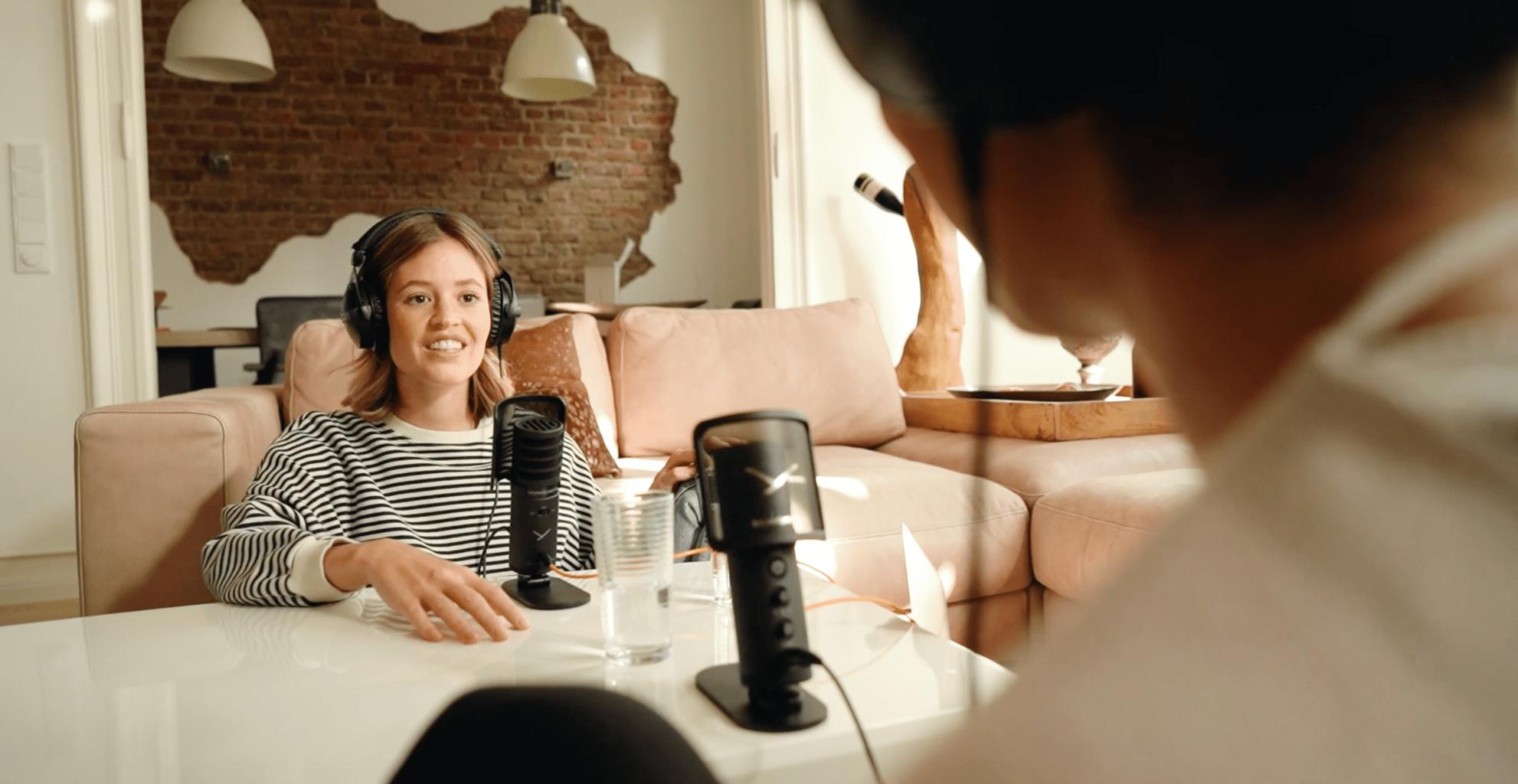 Podcastaufnahme mit dem Creator PRO Bundle