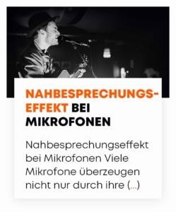 beyerdynamic Nahbesprechungseffekt Mikrofone