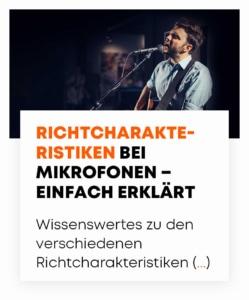 beyerdynamic Richtcharakteristik Mikrofone