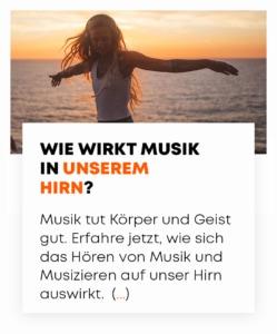 beyerdynamic Auswirkungen von Musik auf das Gehirn